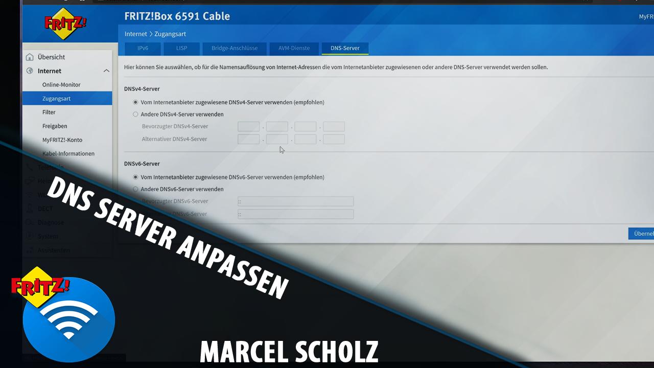 DNS Server bei eurer Fritzbox anpassen   Scholziallvideo